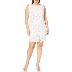 Jessica Howard Laser Cut Shift Dress